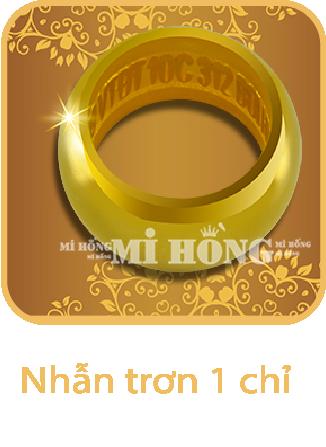 Nhẫn tròn 1 chỉ