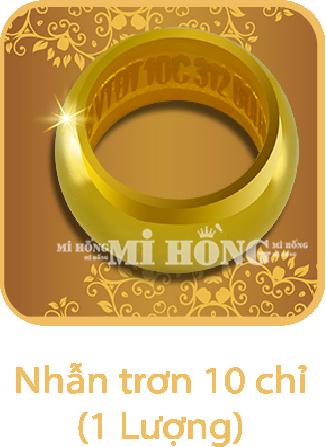 Nhẫn tròn 10 chỉ