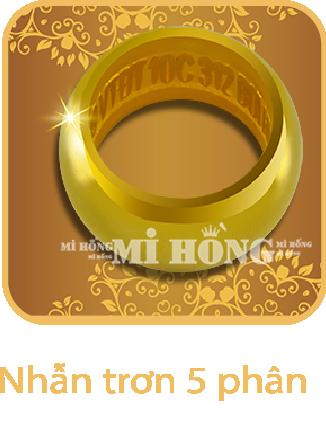 Nhẫn tròn 5 phân